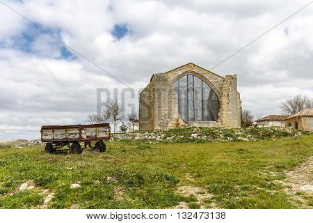 Parish Church of Saint Mary the New XVI century. Benafarces in the province of Valladolid Spain