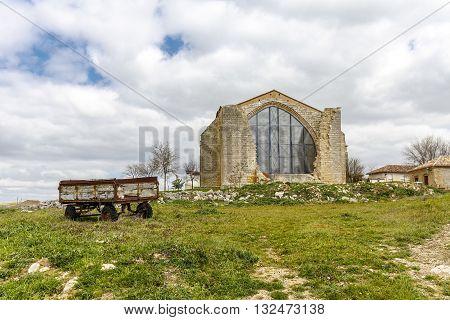 Parish Church of Saint Mary the New XVI century. Benafarces in the province of Valladolid Spain