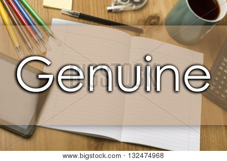 Genuine - Business Concept With Text