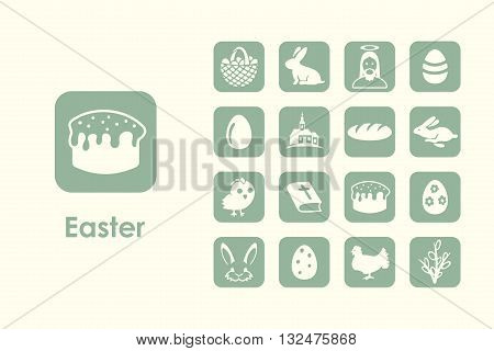 It is a set of easter simple web icons