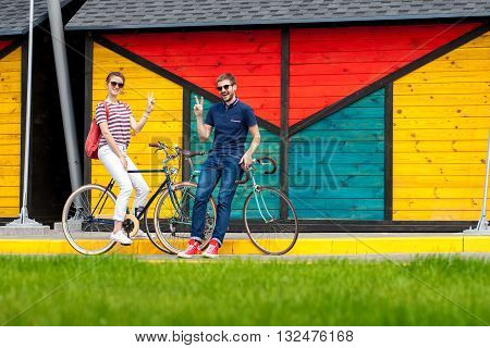 Romantic Couple Go Cycling Outdoors16