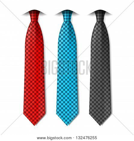 Vector set of ties isolated on a white background