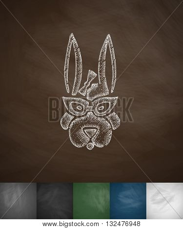 hipster animal icon. Hand drawn vector illustration. Chalkboard Design