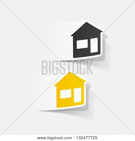 It is a illustration design element: house
