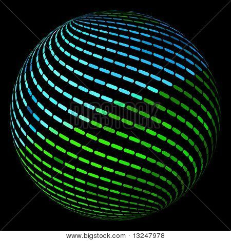 Abstract globe. Vector illustration.