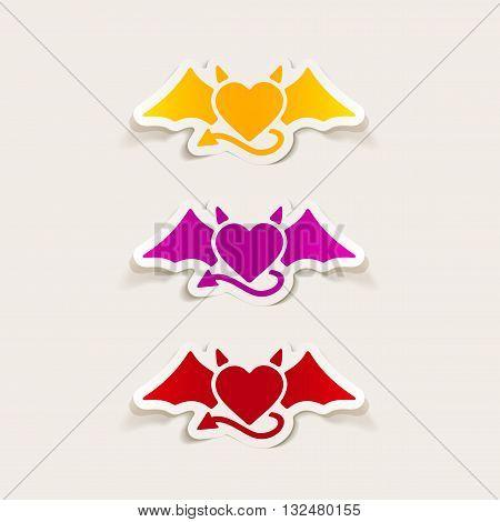 It is a illustration realistic design element: heart devil