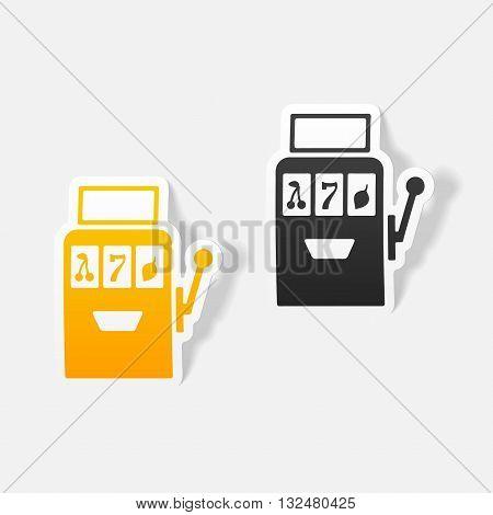 It is a illustration realistic design element: slot machine