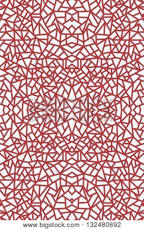 Vector Seamless Abstract Red Pattern on white