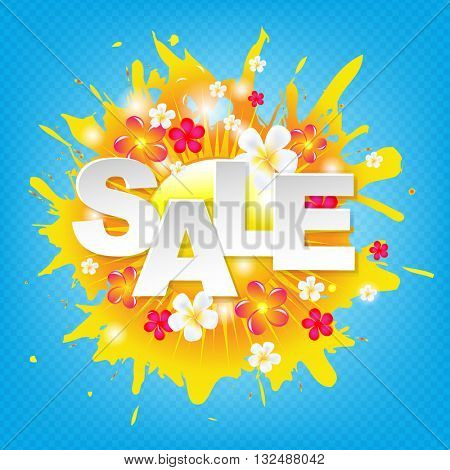 Sunburst Sale Colorful Banner