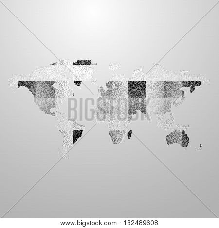 vector illustration of a world map. infographics element design. world global communication infographic concept. international communication concept. infographic vector map. halftone vector world map