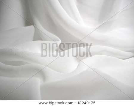 The drapery of white cloth