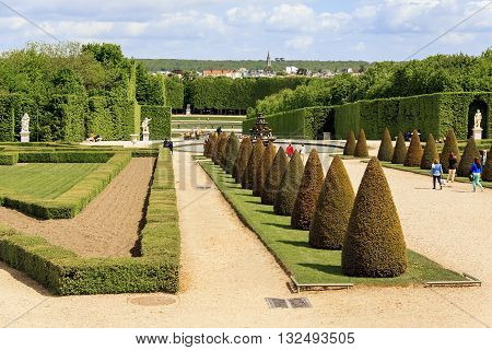 VERSAILLES, FRANCE - MAY 12, 2013: This is avenue