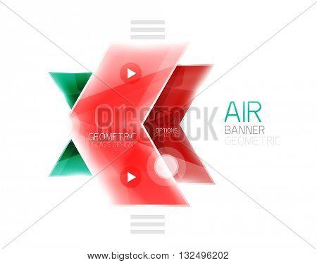 Glass arrows. Vector info banner design
