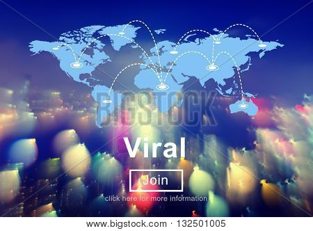 Viral Virtual Post Share Social Media Networking Concept