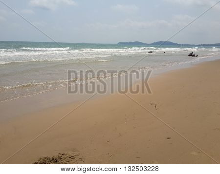 Mae Ramphueng beach in nature country Rayong , Thailand