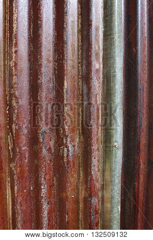 red old rot erode zinc background texture