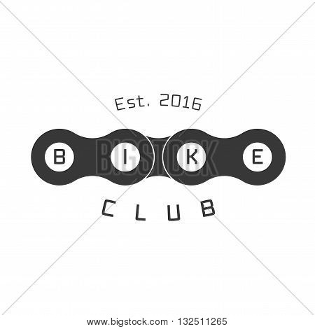 Bicycle vector logo design element. Bicycling concept