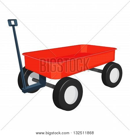 red wagon vector illustration isolated on a white background