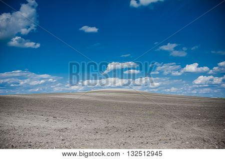 prepared the ground for sowing crops. landscape.