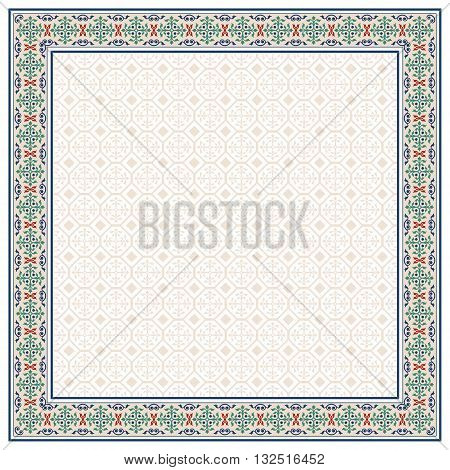 Decorative frame, Arabic style. Pattern brush for rectangular frame and swatch for fill are included.