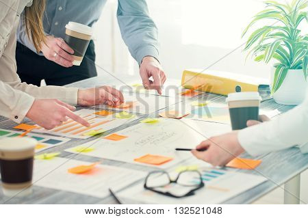 Brainstorming Brainstorm Business People Design Planning -  Stock Image.