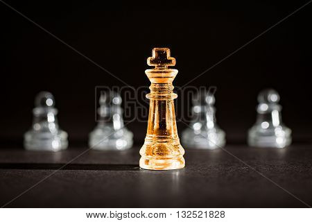 Chess business success leadership concept - Stock Image.
