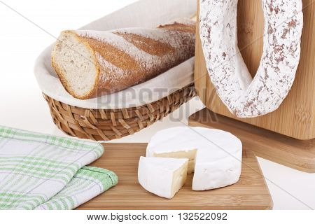 Delicious Cheese, Sausage, Baguettes