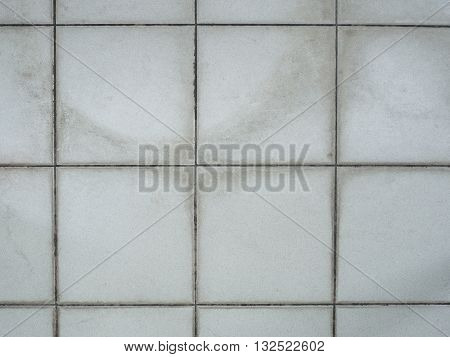 Old tiled white wall texture , floor background