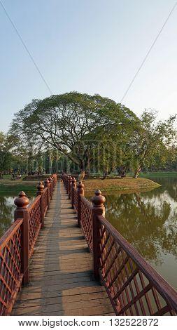 Pond In Sukhothai Historical Park