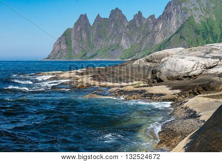 Rocks on the Norwegian island Senja are named Rock Devil's Jaw