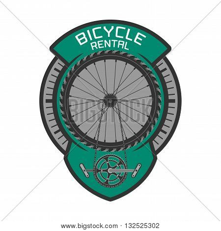 Bicycle rental vector logo design element. Bicycling concept