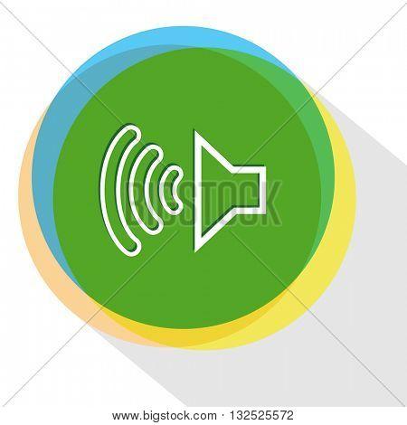 loudspeaker. Internet template. Vector icon.