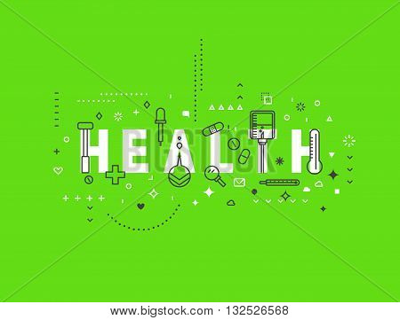 Medicine concept design Health. Creative design elements for websites, mobile apps and printed materials. Medicine banner design