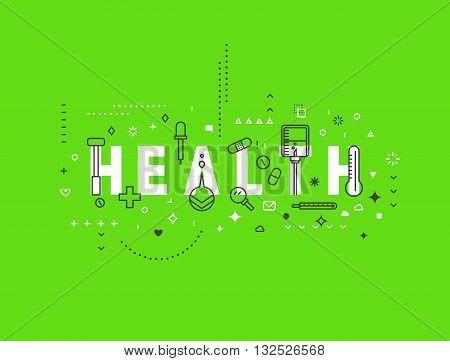 Medicine concept design Health. Creative design elements for websites, mobile apps and printed materials. Medicine banner design