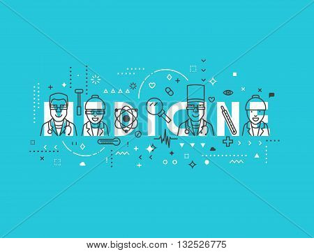 Medicine concept design. Creative design elements for websites, mobile apps and printed materials. Medicine banner design
