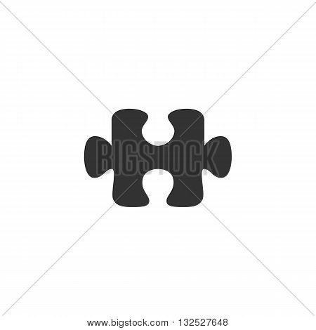 Puzzle icon on white background. Puzzle logo element for template. Modern vector pictogram for web graphics. Flat design style. Vector illustration. - stock vector