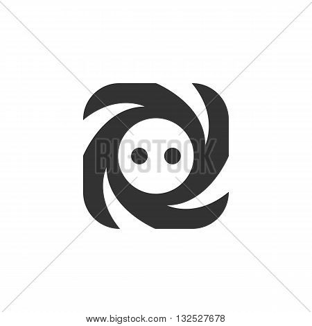 Socket icon on white background. Socket logo element for template. Modern vector pictogram for web graphics. Flat design style. Vector illustration. - stock vector