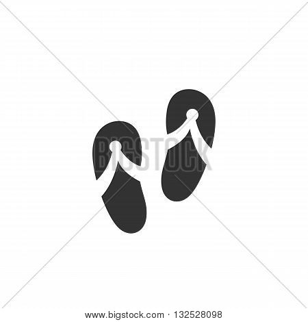 Slippers icon on white background. Slippers logo element for template. Modern vector pictogram for web graphics. Flat design style. Vector illustration. - stock vector