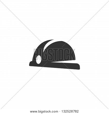 Hard hat icon on white background. Hard hat vector logo. Flat design style. Modern vector pictogram for web graphics. - stock vector