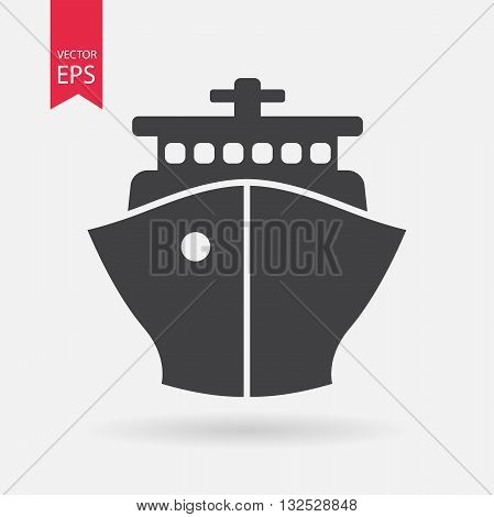 Ship Icon Vector. Flat design. Ship sign isolated on white background