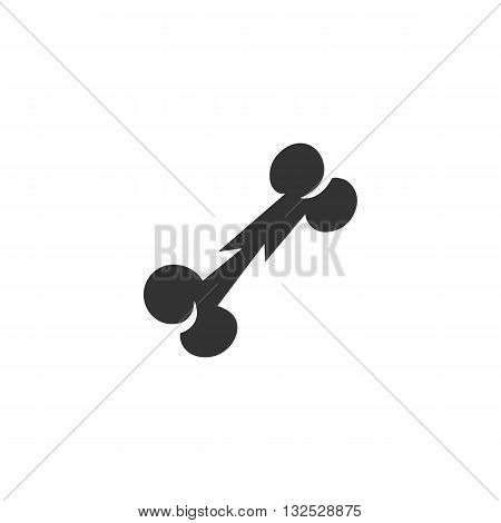 Dog bone icon on white background. Dog bone vector logo. Flat design style. Modern vector pictogram for web graphics. - stock vector