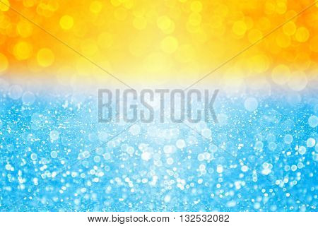 Abstract summer sunset or sunrise bokeh sparkle background over sea lake or ocean pool tropical beach water