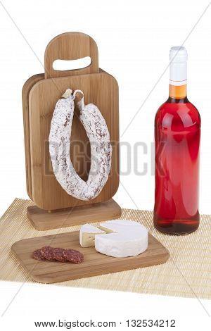Delicious Salami, Cheese, Wine