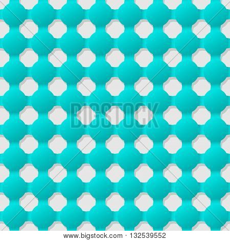 Connected circles of paper with deformed petals cut on the edges and shadows in the cutout. Seamless vector texture. Seamless pattern. Vector geometric background.