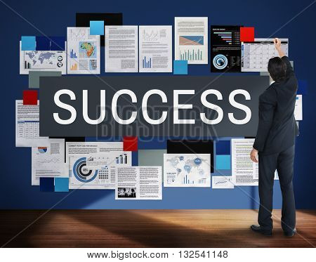 Success Achievement Excellent Growth Victory Concept