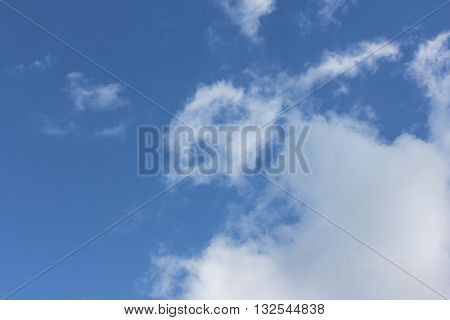 Cloud Shapes on Blue Sky