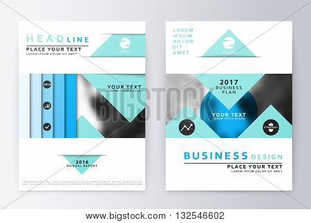 Blue annual Report Brochure. A4 Vector. Annual report design of the first and last page . Business brochure. Catalog Cover. Cover design Report Annual. sover design Report. Business sover design.