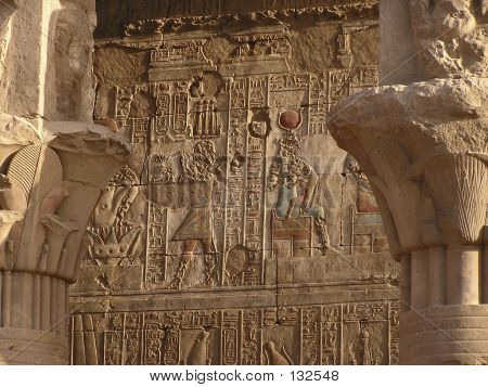 Hieroglyphics On Edfu Temple
