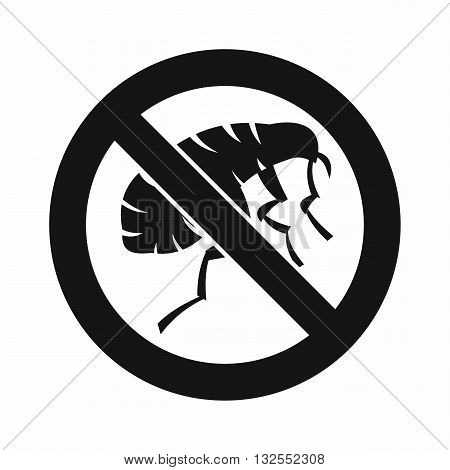 Etching insect icon in simple style isolated on white background
