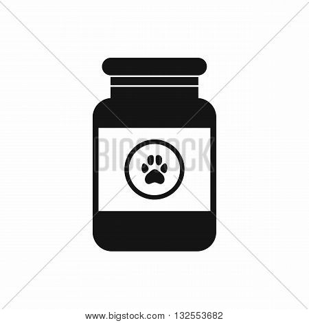 Treatment solution for animals icon in simple style isolated on white background